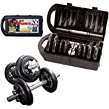Cap Barbell RSWB-40TPB Dumbbell Set, 40 Pounds