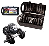 51gDHFch6EL. SL160  CAP Barbell 40 pound Adjustable Dumbbell Set with Case Reviews