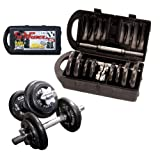 CAP Barbell 40-pound Adjustable Dumbbell Set with Case ~ CAP Barbell