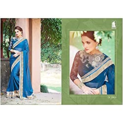 Sahiba Women's Georgette SAREE with Fancy Fabrics (SS_23_Pack of 2_Large)