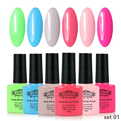 Perfect-Summer-UV-LED-Gel-Nail-Polish-10ml-6-PCS-Set-Pastel-Colors-Soak-Off-Nail-Lacquers