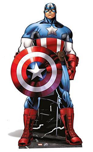 Star Cutouts - Stsc742 - Figurine Géante - Captain America - Avengers - 177 Cm