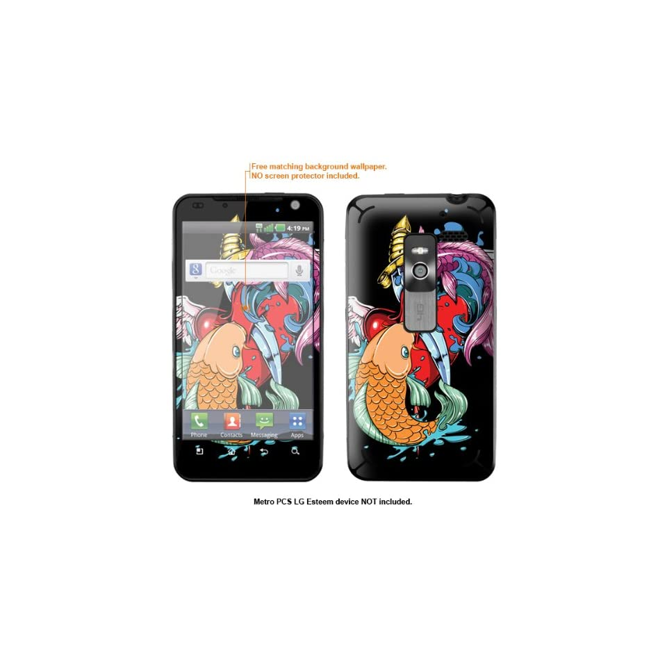 Protective Decal Skin Sticker for Metro PCS LG Esteem 4G case cover Esteem 422
