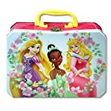 Princess Deluxe Rectangle Tin Lunch Box With Plastic Handle & Clasp