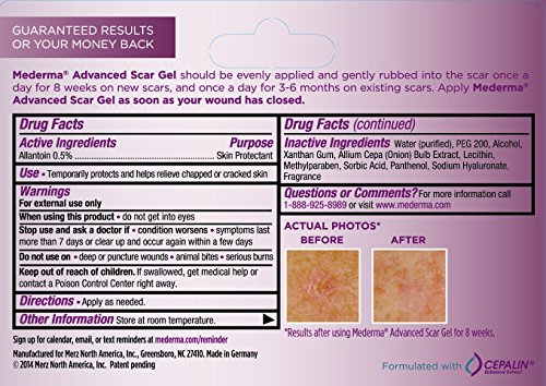 how to use mederma advanced scar gel