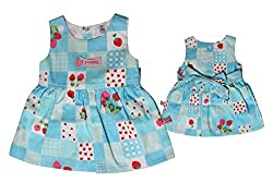 TOFFY HOUSE Blue Frock for Kids