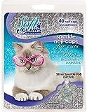 Feline Soft Claw Nail Caps, Medium, Silver Sparkle