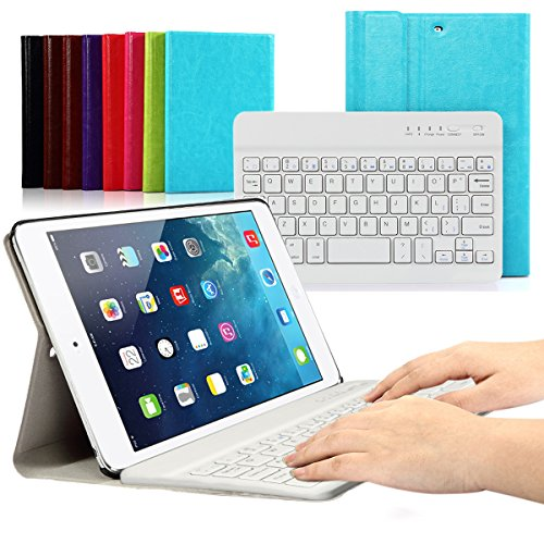 CoastaCloud iPad mini 1/2/3 Keyboard Case PU Leather Folio Stand Cover with Detachable Wireless Bluetooth Keyboard for iPad mini 3/ iPad mini 2/iPad mini 1 (Ipad Mini 3 Keyboard Cover compare prices)