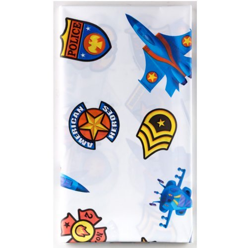 American Heroes Plastic Table Cover (1ct) - 1