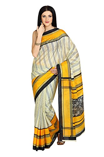 Parchayee Women Synthetic Sarees (91431 _Beige _Free Size)