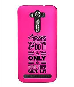 KolorEdge Back Cover For Asus Zenfone 2 Laser - Pink (4363-Ke15166Zen2LaserPink3D)