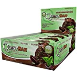 Quest Bar - Mint Chocolate Chunk Protein 12 2.1oz Bars 20 Grams of Protein