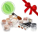 IQ Natural Mineral Makeup Sample Kit with 5 piece Black Brush Kit (Tan Shade) Try Us Today!