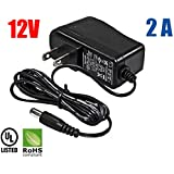 Amamax® Wall Adapter Power Supply - 12V DC 2A, 5.5mm - 2.1mm UL Listed