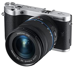 Samsung NX300 20.3MP CMOS Smart WiFi Compact Interchangeable Lens Digital Camera with 18-55mm Lens and 3.3-inch AMOLED Touchscreen (Black)