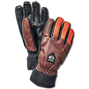Hestra Army Leather Wool Glove Chocolate / FL Red 7
