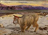 WILLIAM HOLMAN HUNT The Scapegoat, detail c1856 250gsm Gloss Art Card A3 Reproduction Poster