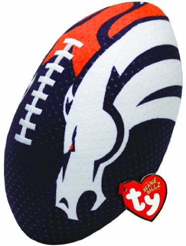 Ty Beanie Ballz NFL RZ Denver Broncos Football Plush - 1