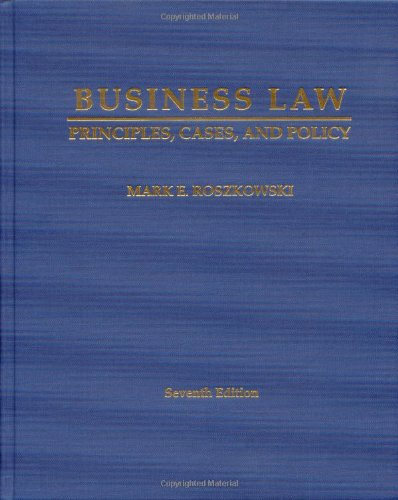 Business Law: Principles, Cases and Policy