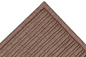 "Notrax 161 Barrier Rib Entrance Mat, for Indoor Main Entranceways and Heavy Traffic Areas, 2' Width x 3' Length x 3/8"" Thickness, Brown"