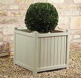 Square Shabby Chic Pine Planter - H50cm