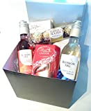 Luxury Chocolates & Wine Gift Box - Finest Lindt Lindor,...