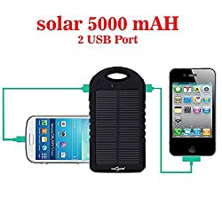 Callmate Power Bank Small Solar 5000 mah - Black