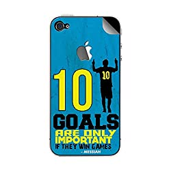 ezyPRNT Apple iphone 4/4s Lionel Messi Football Player mobile skin sticker