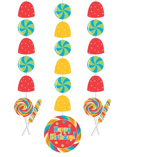 Creative Converting Sugar Buzz Hanging Cutout Party Decorations