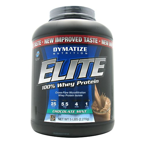 Dymatize Nutrition Elite Whey Shake, Chocolate Mint, 5 Pound