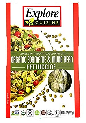 Explore Cuisine Fettuccini, Organic Edamame & Mung Bean, 7.05 Oz (Pack Of 6) by Explore Asian