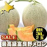 糖度15度以上!北海道ふらの産 赤肉メロン 超大玉3Lサイズ2玉(2.5kg以上2玉) ランキングお取り寄せ