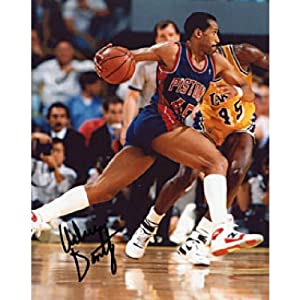 Adrian Dantley Autographed Signed Detroit Pistons Basketball 8x10 Photo by Hollywood Collectibles