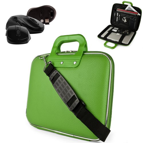 Hot Buy Cheap Uniquely designed SumacLife Brand Lime Green Ultra Durable Reinforced 13 Inch Cady Hard Shell Sports Bag for all models of the Acer Aspire S7 13.3 Inch Touchscreen Ultrabook (Acer Aspire, s7, S7-391-9886, S7-391-6810, i7 processor, Touchscreen Ultrabook) + Wireless USB Mouse Buy save price