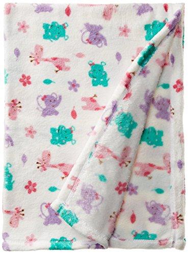 Lovespun Baby-Girls Newborn Elephant Print Plush Blanket - 1