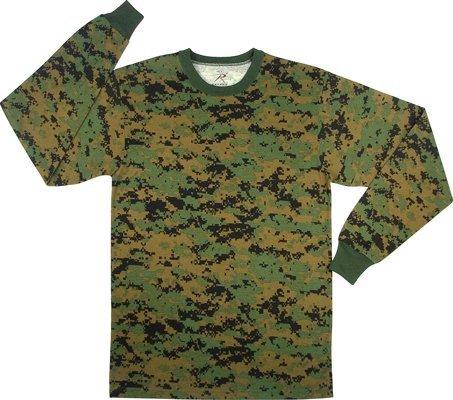 Rothco Long Sleeve T-Shirt, Woodland Digital, X-Large