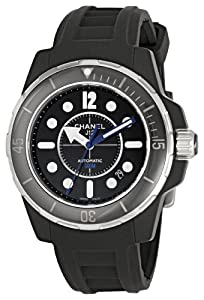 Chanel Men's H2558 J12 Black Rubber Strap Watch from Chanel