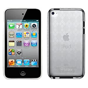 GTMax Durable Soft Gel Skin Cover Case - Clear Checker for Apple iPod touch 8GB 32GB 64GB (4th Generation) 4 4G NEWEST MODEL