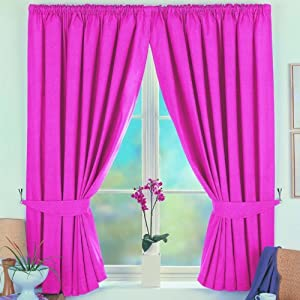 Norfolk Blackout Curtains Pink 46 Wide X 72 Drop Window Treatment Curtains