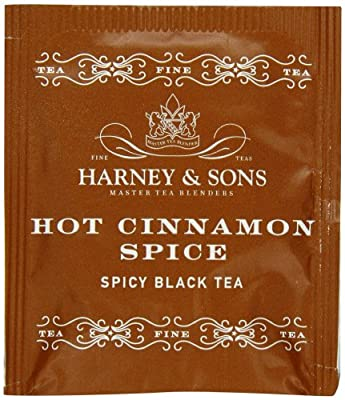 Harney & Sons Hot Cinnamon Spice Tea 100g / 3.57 oz (50 Tea Bags) by Harney & Sons