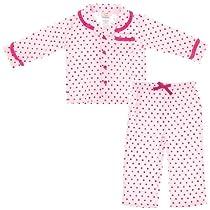 Absorba Coat Style Pink Polka Dot Pajamas for Girls 2T
