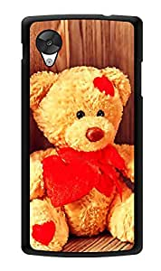"""Humor Gang Teddy Cute Sitting Printed Designer Mobile Back Cover For """"Lg Google Nexus 5"""" (3D, Glossy, Premium Quality Snap On Case)"""