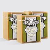 Handmade Herbal 100% Raw Goat Milk Tea Tree Jojoba Soap (3 Pack)