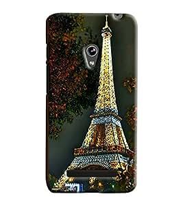 Blue Throat Eiffel Tower Of Paris Printed Designer Back Cover For Asus Zenfone 5
