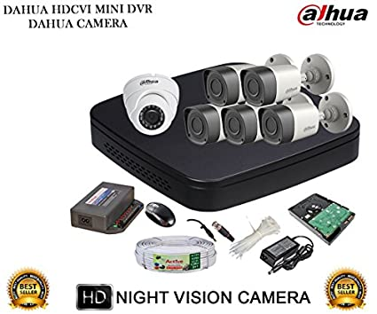 Dahua-DH-HCVR4108C-S2-8CH-Dvr,-5(DH-HAC-HFW1000RP)-Bullet,-1(DH-HAC-HDW1000RP)-Dome-Camera-(With-Accessories,-1TB-HDD)