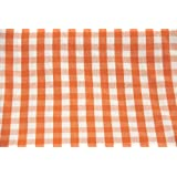 Homescapes Pure Cotton Furnishing Fabric - Block Check - Orange - 150 cm Wide - Thick Yarn Dyed Woven - for Upholstery Curtain Cushion Soft Furnishings Heavy Dress Material - Per Metreby Homescapes