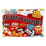 Hershey's Variety Factory Favorites, Snack Size, 120-Count