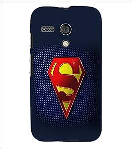PrintDhaba Superman Logo D-2098 Back Case Cover for MOTOROLA MOTO G (Multi-Coloured)
