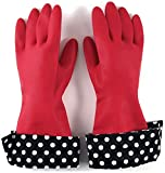 Julies Signature Latex Gloves with Designer Cuffs, Set of 2 Red -The Accidental Housewife