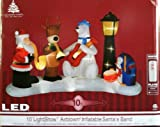 10' Gemmy LED Light & Music Show Airblown Inflatable Santa's Christmas Band
